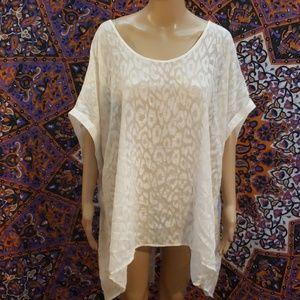 Lane Bryant animal print sheer blouse 26/28